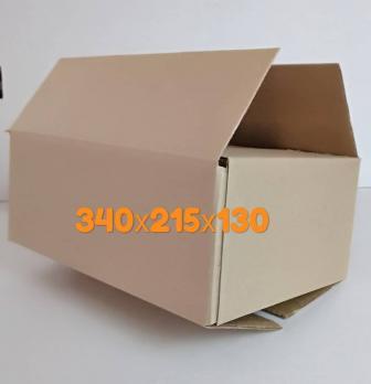 Картонная коробка  340*215*130 мм .