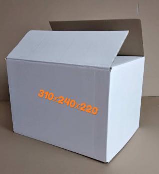 Белая картонная коробка 310-210-220 мм